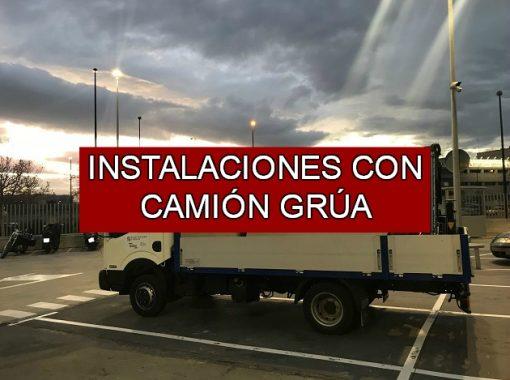 Instalaciones con Camión Grúa - Electricidad J.Bolsa